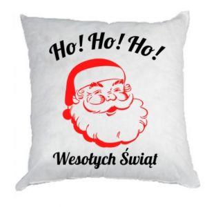 Poduszka Ho Ho Ho Święty Mikołaj