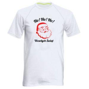 Koszulka sportowa męska Ho Ho Ho Święty Mikołaj
