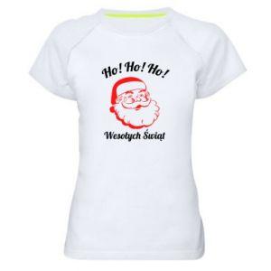 Koszulka sportowa damska Ho Ho Ho Święty Mikołaj