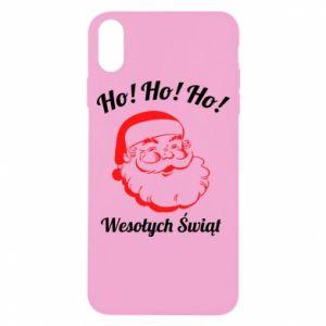 Etui na iPhone X/Xs Ho Ho Ho Święty Mikołaj