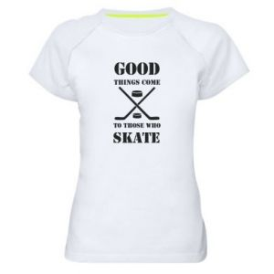 Damska koszulka sportowa Good skate - PrintSalon