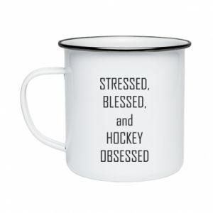 Kubek emaliowane Hokej