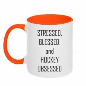 Two-toned mug Hockey