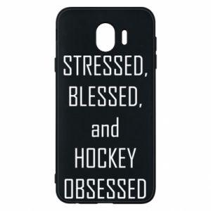 Samsung J4 Case Hockey