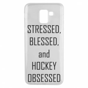 Samsung J6 Case Hockey
