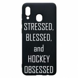 Samsung A20 Case Hockey