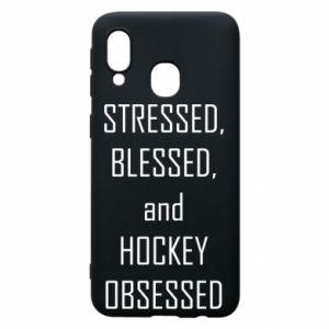 Samsung A40 Case Hockey
