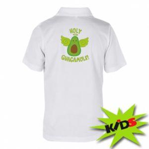 Dziecięca koszulka polo Holy guacamole inscription