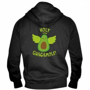 Męska bluza z kapturem na zamek Holy guacamole inscription