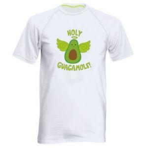 Męska koszulka sportowa Holy guacamole inscription