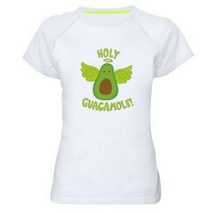 Damska koszulka sportowa Holy guacamole inscription