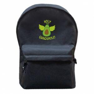 Plecak z przednią kieszenią Holy guacamole inscription
