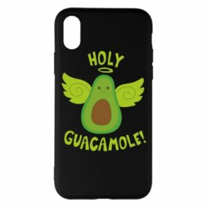 Etui na iPhone X/Xs Holy guacamole inscription