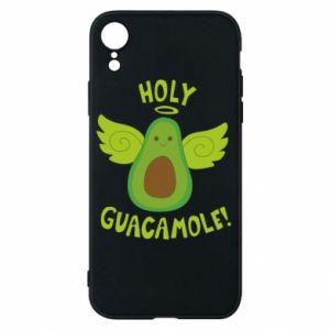 Etui na iPhone XR Holy guacamole inscription