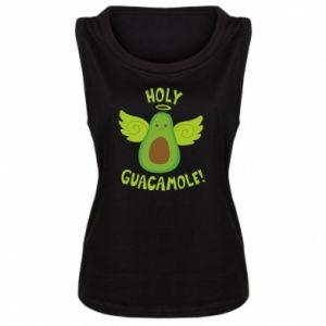 Damska koszulka bez rękawów Holy guacamole inscription