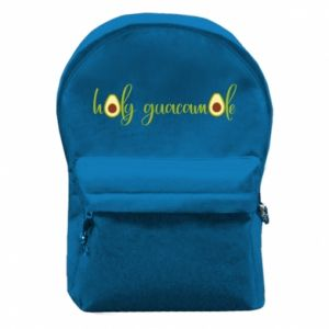 Plecak z przednią kieszenią Holy guacamole
