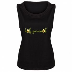 Damska koszulka bez rękawów Holy guacamole