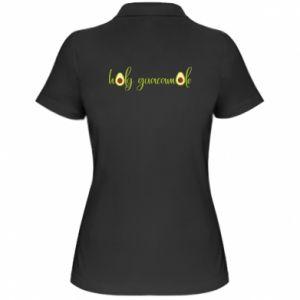 Damska koszulka polo Holy guacamole