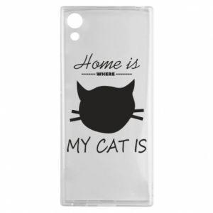 Etui na Sony Xperia XA1 Home is where my cat