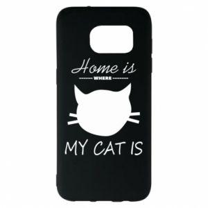Etui na Samsung S7 EDGE Home is where my cat
