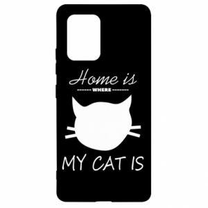 Etui na Samsung S10 Lite Home is where my cat