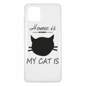 Etui na Samsung Note 10 Lite Home is where my cat