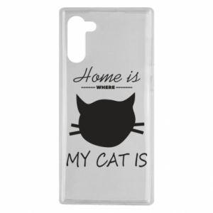 Etui na Samsung Note 10 Home is where my cat