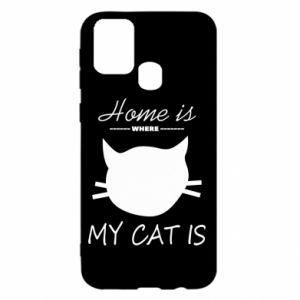 Etui na Samsung M31 Home is where my cat