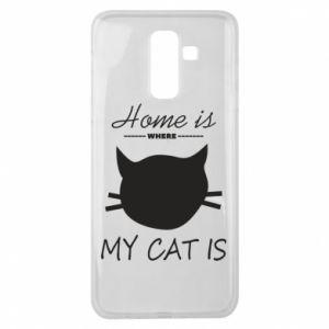 Etui na Samsung J8 2018 Home is where my cat