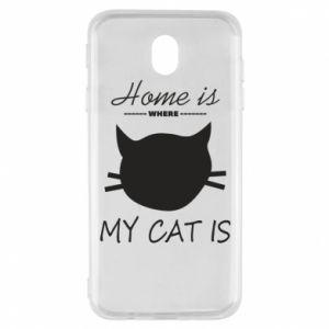 Etui na Samsung J7 2017 Home is where my cat