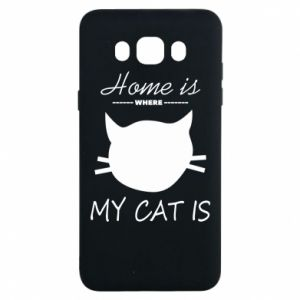 Etui na Samsung J7 2016 Home is where my cat