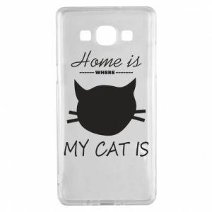 Etui na Samsung A5 2015 Home is where my cat
