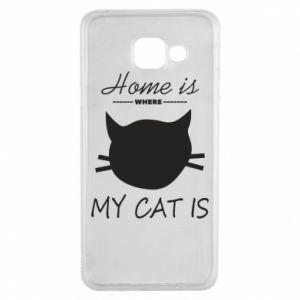 Etui na Samsung A3 2016 Home is where my cat