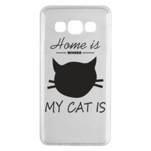 Etui na Samsung A3 2015 Home is where my cat