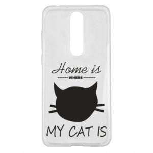 Etui na Nokia 5.1 Plus Home is where my cat
