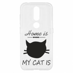 Etui na Nokia 4.2 Home is where my cat