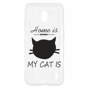 Etui na Nokia 2.2 Home is where my cat