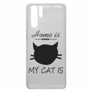 Etui na Huawei P30 Pro Home is where my cat