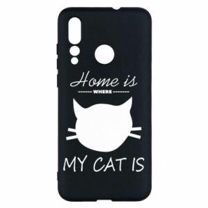 Etui na Huawei Nova 4 Home is where my cat