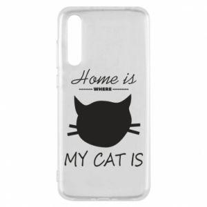 Etui na Huawei P20 Pro Home is where my cat
