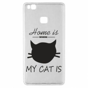 Etui na Huawei P9 Lite Home is where my cat