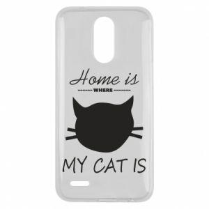Etui na Lg K10 2017 Home is where my cat