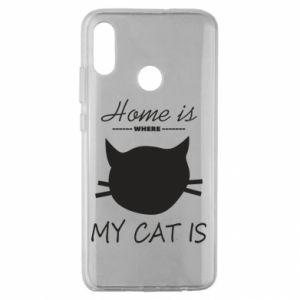 Etui na Huawei Honor 10 Lite Home is where my cat