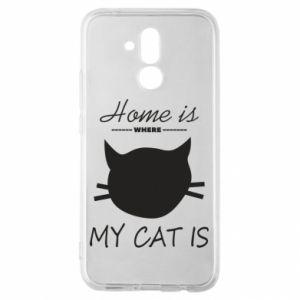 Etui na Huawei Mate 20 Lite Home is where my cat