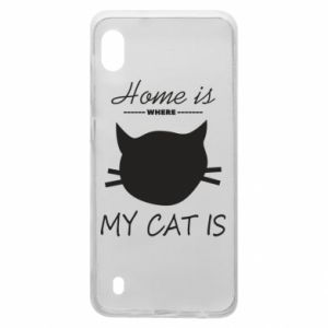 Etui na Samsung A10 Home is where my cat