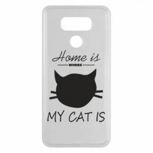 Etui na LG G6 Home is where my cat