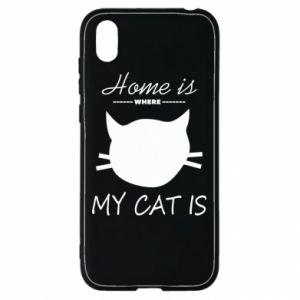 Etui na Huawei Y5 2019 Home is where my cat