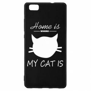 Etui na Huawei P 8 Lite Home is where my cat