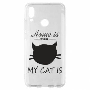 Etui na Huawei P Smart 2019 Home is where my cat
