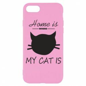 Etui na iPhone SE 2020 Home is where my cat